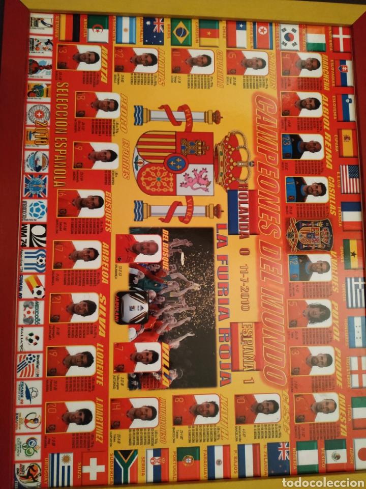 CUADRO DE CAMPEONES DEL MUNDO 2010 (Coleccionismo Deportivo - Carteles de Fútbol)