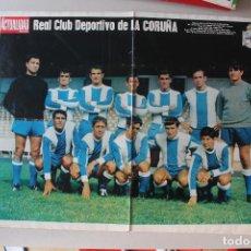 Coleccionismo deportivo: PÓSTER REAL CLUB DEPORTIVO DE LA CORUÑA, TEMPORADA 1968-1969, 67X52 CM. Lote 146125446