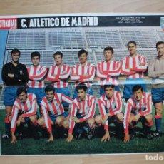 Coleccionismo deportivo: GRAN POSTER CLUB ATLÉTICO DE MADRID, TEMPORADA 1968-1969. LA ACTUALIDAD ESPAÑOLA. 67X52 CM. Lote 146236882
