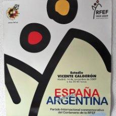 Coleccionismo deportivo: CARTEL DEL CENTENARIO DE LA FEDERACION ESPAÑOLA DE FUTBOL. Lote 146258006