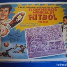 Coleccionismo deportivo: (F-190128)CARTEL CAMPEONATO MUNDIAL DE FUTBOL 1962 - PARA CINE. Lote 146261322