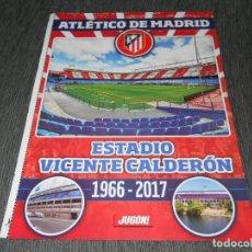 Coleccionismo deportivo: POSTER VICENTE CALDERON AT. MADRID ALINEACION REAL SOCIEDAD JUGON 2016 2017 16 17 TAMAÑO FOLIO. Lote 152018349