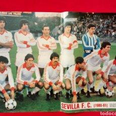 Coleccionismo deportivo: POSTER SEVILLA F. C. 1980-1981 AS COLOR 80-81 46.5 X 33 CMS.. Lote 147248840