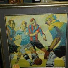 Coleccionismo deportivo: (M) CARTEL ORIGINAL AÑOS 30 - FC BARCELONA TORINO FC R SOCIEDAD MORAVSKA SLAVIA , LES CORTS. Lote 147309842