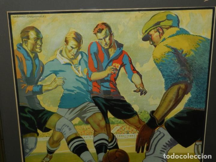 Coleccionismo deportivo: (M) CARTEL ORIGINAL AÑOS 30 - FC BARCELONA TORINO FC R SOCIEDAD MORAVSKA SLAVIA , LES CORTS - Foto 3 - 147309842