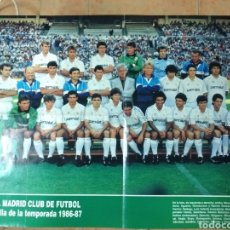 Coleccionismo deportivo: POSTER REAL MADRID CF.1986-87. Lote 147530985