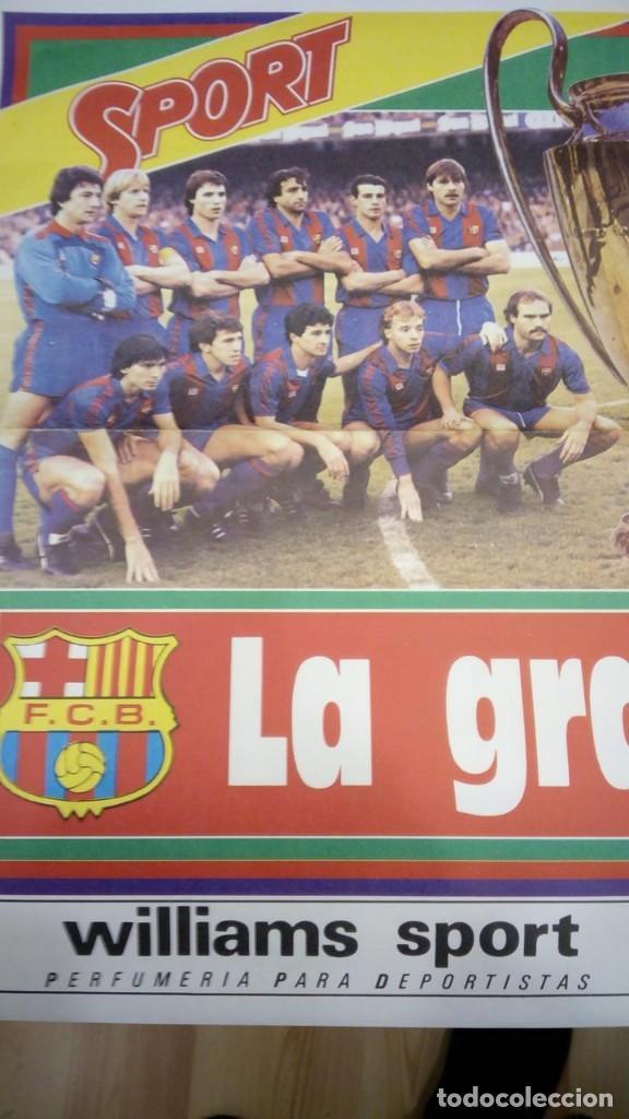 Coleccionismo deportivo: POSTER GRAN TAMAÑO - LA GRAN FINAL F.C. BARCELONA STEAUA DE BUCAREST - SEVILLA 7-5-1986 DIARIO SPORT - Foto 2 - 147890126