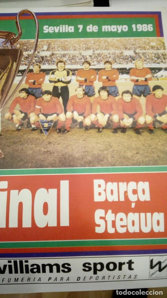 Coleccionismo deportivo: POSTER GRAN TAMAÑO - LA GRAN FINAL F.C. BARCELONA STEAUA DE BUCAREST - SEVILLA 7-5-1986 DIARIO SPORT - Foto 3 - 147890126