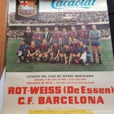 Coleccionismo deportivo: CARTEL C.F. BARCELONA 1960. Lote 148027798