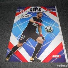 Coleccionismo deportivo: POSTER OBLAK AT. MADRID MR. CERO JUGON 2017 2018 17 18 TAMAÑO FOLIO. Lote 152018408