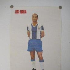 Coleccionismo deportivo: CARTEL FUTBOL-JOSE MARIA-R.C.D.ESPAÑOL-RCD ESPANYOL-ED·VERTICE-MIDE 36X56 CM-VER FOTOS-(ENR). Lote 150006622