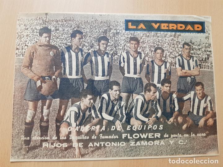 GALERÍA DE EQUIPOS FÚTBOL LA CORUÑA LA VERDAD ANTONIO ZAMORA MURCIA (Coleccionismo Deportivo - Carteles de Fútbol)