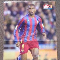 Coleccionismo deportivo: ETO'O. FC BARCELONA. POSTER DON BALON. Lote 151320214