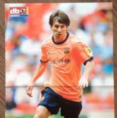 Coleccionismo deportivo: MESSI F C BARCELONA POSTER DON BALON. Lote 151320546