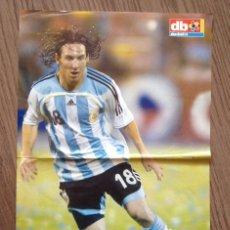Coleccionismo deportivo: MESSI F C BARCELONA POSTER ARGENTINA DON BALON. Lote 151320610