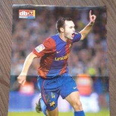 Coleccionismo deportivo: INIESTA FC BARCELONA POSTER DON BALON. Lote 151320726