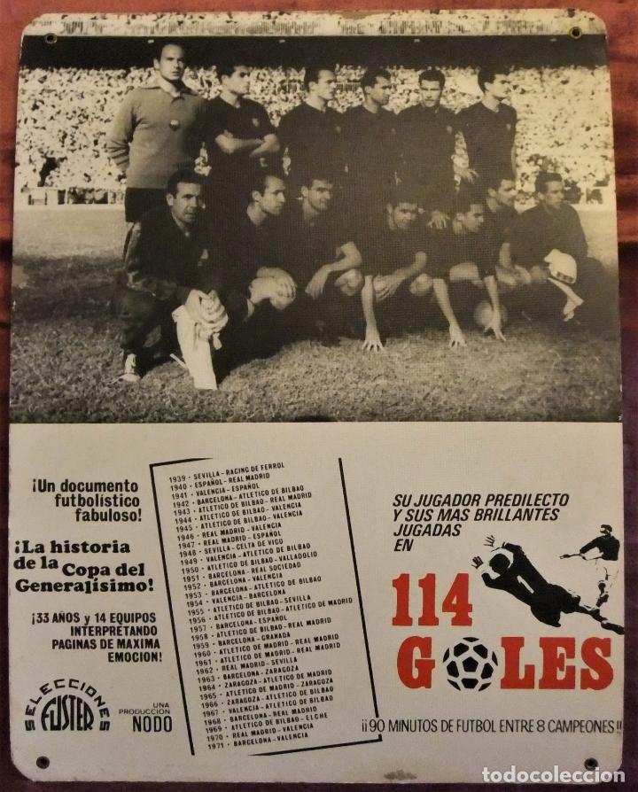 ÚNICO ANTIGUO CARTEL DE SALA DE CINE PELICULA NODO 114 GOLES IMAGEN FC BARCELONA 1958-59 (Coleccionismo Deportivo - Carteles de Fútbol)
