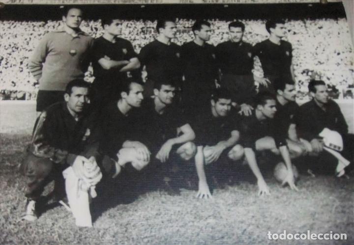 Coleccionismo deportivo: ÚNICO ANTIGUO CARTEL DE SALA DE CINE PELICULA NODO 114 GOLES IMAGEN FC BARCELONA 1958-59 - Foto 2 - 151650990