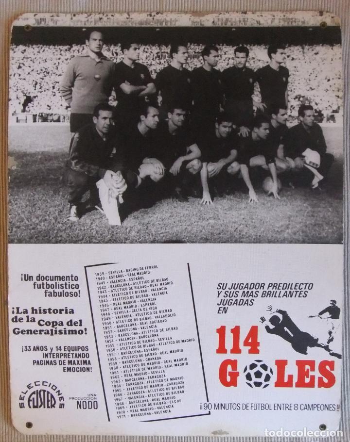 Coleccionismo deportivo: ÚNICO ANTIGUO CARTEL DE SALA DE CINE PELICULA NODO 114 GOLES IMAGEN FC BARCELONA 1958-59 - Foto 4 - 151650990