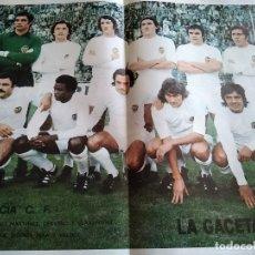 Coleccionismo deportivo: POSTER VALENCIA CLUB FÚTBOL LA GACETA DEL NORTE. Lote 152907110