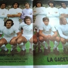 Coleccionismo deportivo: POSTER REAL MADRID LA GACETA DEL NORTE. Lote 152907370