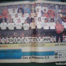Coleccionismo deportivo: POSTER 2004-05 VALENCIA. Lote 153436470