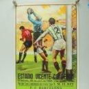 Coleccionismo deportivo: ANTIGUO CARTEL DE PARTIDO DE FÚTBOL FINAL DE COPA DEL REY 1986 FC BARCELONA - REAL ZARAGOZA. Lote 162982748