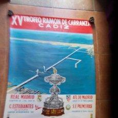 Coleccionismo deportivo: CARTEL XV TROFEO CARRANZA 1969. Lote 154597006