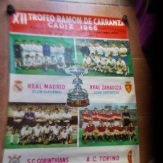 Coleccionismo deportivo: CARTEL XII TROFEO CARRANZA 1966 CADIZ C.F. Lote 154599586