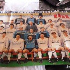 Coleccionismo deportivo: POSTER CARTEL REAL MADRID CAMPEON DE LIGA FUTBOL TEMPORADA 85-86. Lote 155247122