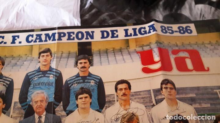 Coleccionismo deportivo: POSTER CARTEL REAL MADRID CAMPEON DE LIGA FUTBOL TEMPORADA 85-86 - Foto 2 - 155247122