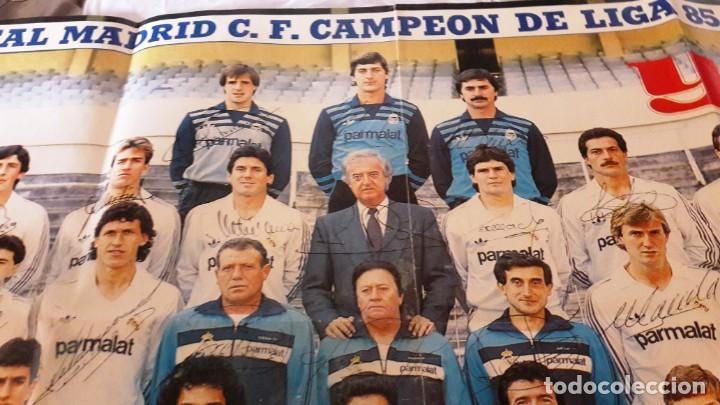 Coleccionismo deportivo: POSTER CARTEL REAL MADRID CAMPEON DE LIGA FUTBOL TEMPORADA 85-86 - Foto 4 - 155247122
