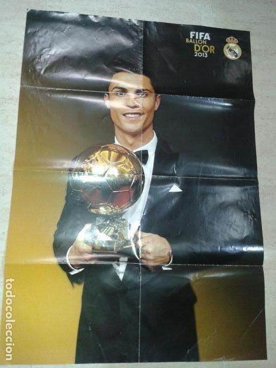 POSTER DE RONALDO BALON DE ORO 2013 (Coleccionismo Deportivo - Carteles de Fútbol)