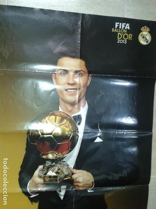 Coleccionismo deportivo: POSTER DE RONALDO BALON DE ORO 2013 - Foto 4 - 155380070