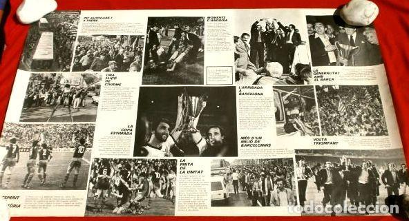 Coleccionismo deportivo: BARÇA - POSTER OFICIAL PLANTILLA F.C. BARCELONA CAMPIONS RECOPA BASILEA 78/79 Estrella Dorada Danone - Foto 6 - 155526874