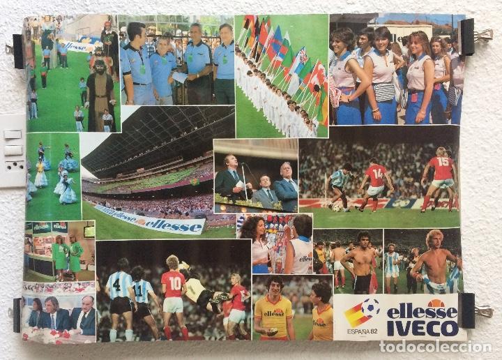 CARTEL POSTER MUNDIAL ESPAÑA 82 PUBLICIDAD ELLESSE IVECO (Coleccionismo Deportivo - Carteles de Fútbol)