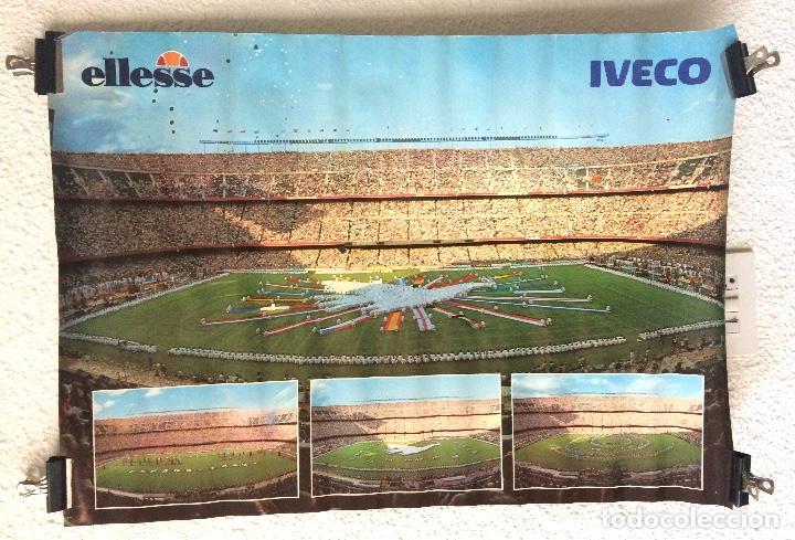Coleccionismo deportivo: Cartel poster MUNDIAL ESPAÑA 82 publicidad ELLESSE IVECO - Foto 2 - 155556694