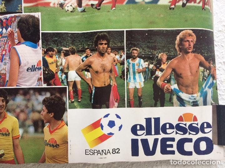 Coleccionismo deportivo: Cartel poster MUNDIAL ESPAÑA 82 publicidad ELLESSE IVECO - Foto 3 - 155556694