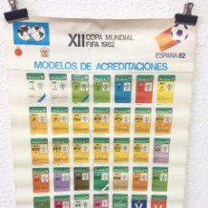 Coleccionismo deportivo: CARTEL POSTER FIFA MUNDIAL ESPAÑA 82 MODELOS ACREDITACIONES. Lote 155557682