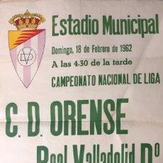 Coleccionismo deportivo: ESTADIO MUNICIPAL VALLADOLID. 1962. C.D. ORENSE-REAL VALLADOLID Dº. 62X43.5 CM. Lote 155582926