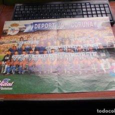 Coleccionismo deportivo: POSTER DEPORTIVO DE LA CORUÑA 1996/1997, GOLOSINAS VIDAL. MIDE 42X30 CM.. Lote 155666858