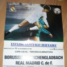 Coleccionismo deportivo: CARTEL REAL MADRID BORUSSIA REMONTADA EN UEFA 1985 REPRODUCCION DIARIO AS. Lote 155968034
