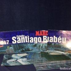Coleccionismo deportivo: GRAN CARTEL 6 POSTERS REAL MADRID SANTIAGO BERNABEU 1947 1997 MARCA BUEN ESTADO. Lote 156762594