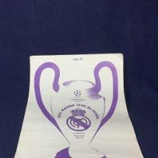Coleccionismo deportivo: CARTEL UEFA CHAMPIONS LEAGUE 1997 1998 MOSAICO GENERAL CARA A CARA B BUEN ESTADO. Lote 156763818