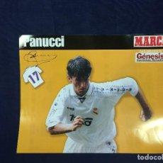 Coleccionismo deportivo: CARTEL MARCA CHRISTIAN PANUCCI REAL MADRID 17 TEMPORADA 96 97 BUEN ESTADO. Lote 156764818