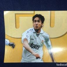 Coleccionismo deportivo: CARTEL MARCA RAUL GONZALEZ REAL MADRID 7 TEMPORADA 96 97 BUEN ESTADO. Lote 156764986