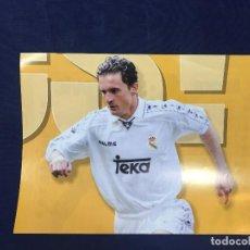 Coleccionismo deportivo: CARTEL MARCA PEDJA MIJATOVIC REAL MADRID 8 TEMPORADA 96 97 BUEN ESTADO. Lote 156765814