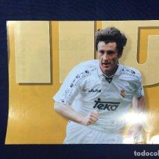 Coleccionismo deportivo: CARTEL MARCA DAVOR SUKER REAL MADRID 9 TEMPORADA 96 97 BUEN ESTADO. Lote 156766450