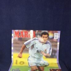 Coleccionismo deportivo: CARTEL POSTER LUIS FIGO PASION BLANCA REAL MADRID TEMPORADA 96 97 BUEN ESTADO. Lote 156766990