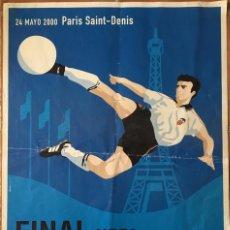 Coleccionismo deportivo: POSTER CARTEL FINAL DE LA CHAMPIONS LEAGUE REAL MADRID VALENCIA CF 24 MAYO 2000. Lote 156966354